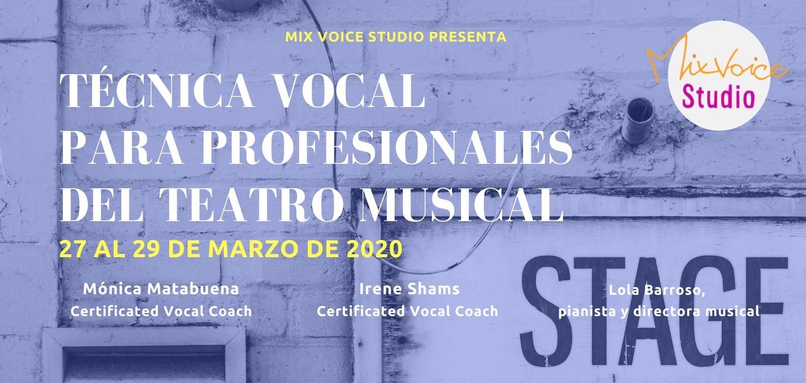Curso de Técnica Vocal para profesionales del teatro musical